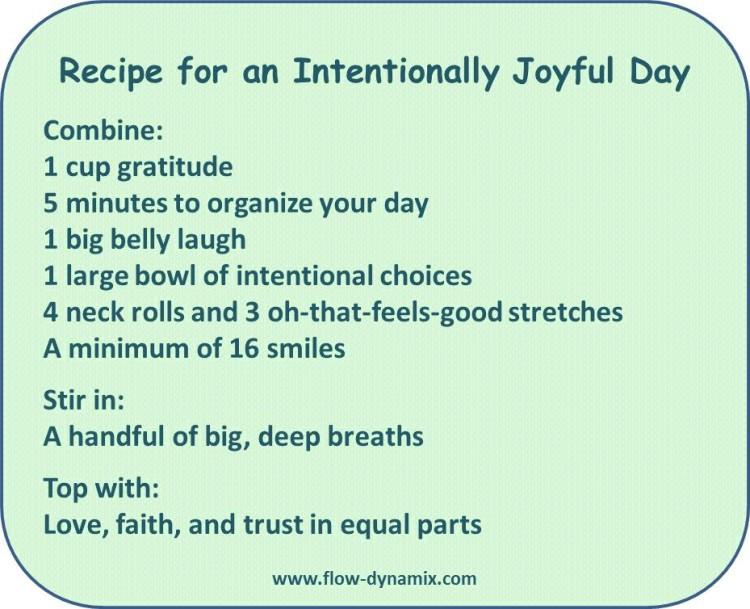 Joyful Day Recipe